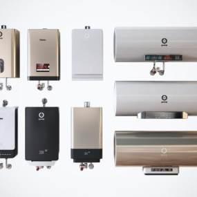 现代高档电热水器卫浴设备组合3D模型【ID:245244635】