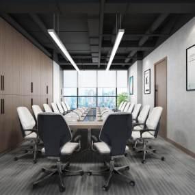 现代办公会议室3D模型【ID:952143112】