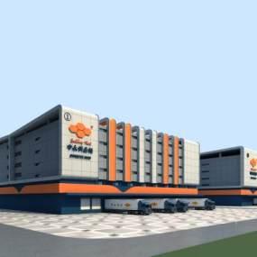 现代厂房建筑3D模型【ID:250978333】