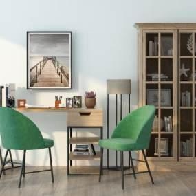现代书桌椅 3D模型【ID:940936085】
