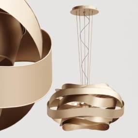 欧式几何金属吸顶灯3D模型【ID:733202844】