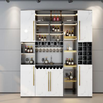 现代轻奢酒柜3D模型【ID:648852221】