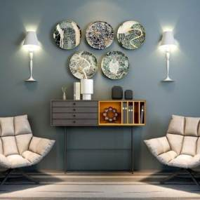现代沙发椅3D模型【ID:730893070】