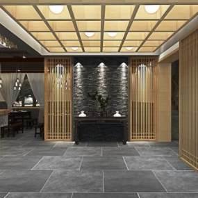 工业风休闲餐厅3D模型【ID:635809920】