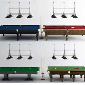 台球桌组合3D模型【ID:330934828】