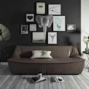 北欧双人沙发3D模型【ID:631215513】