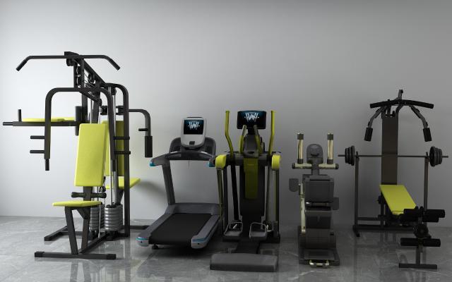 现代跑步机3D模型【ID:333752834】