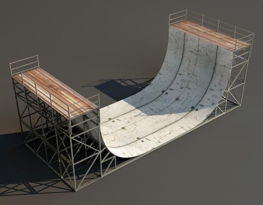 現代跑道滑道3D模型【ID:441993411】