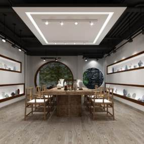 新中式陶瓷博物馆3D模型【ID:934479904】