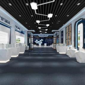现代高科技展厅3D模型【ID:932242941】