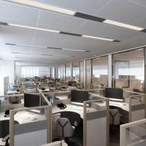 現代簡約辦公室3D模型【ID:942520030】