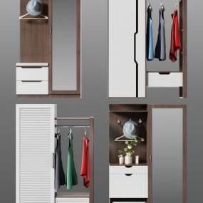 现代衣柜3D模型【ID:143280471】