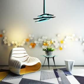 现代沙发椅3D模型【ID:731781073】