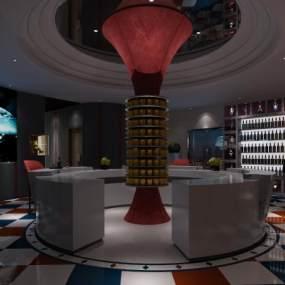 工业风电影院大厅3D模型【ID:643305858】