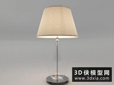 现代台灯国外3D模型【ID:829365959】
