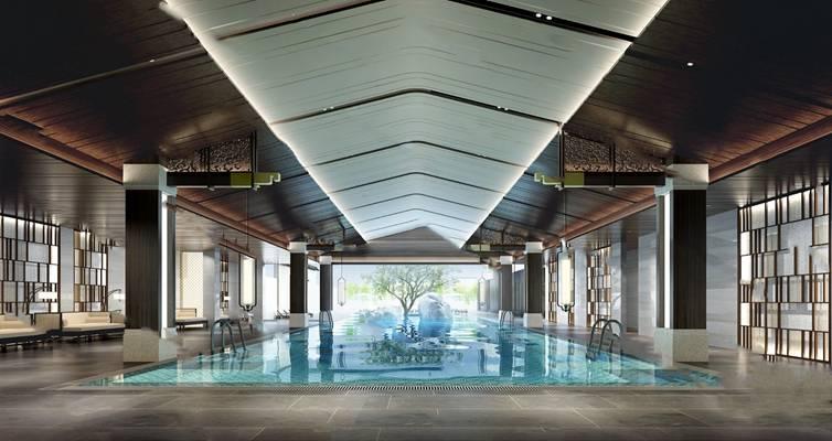 游泳池3D模型【ID:920022706】