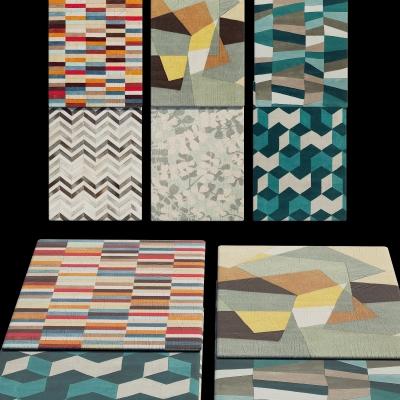 现代地毯组合3D模型【ID:427795099】