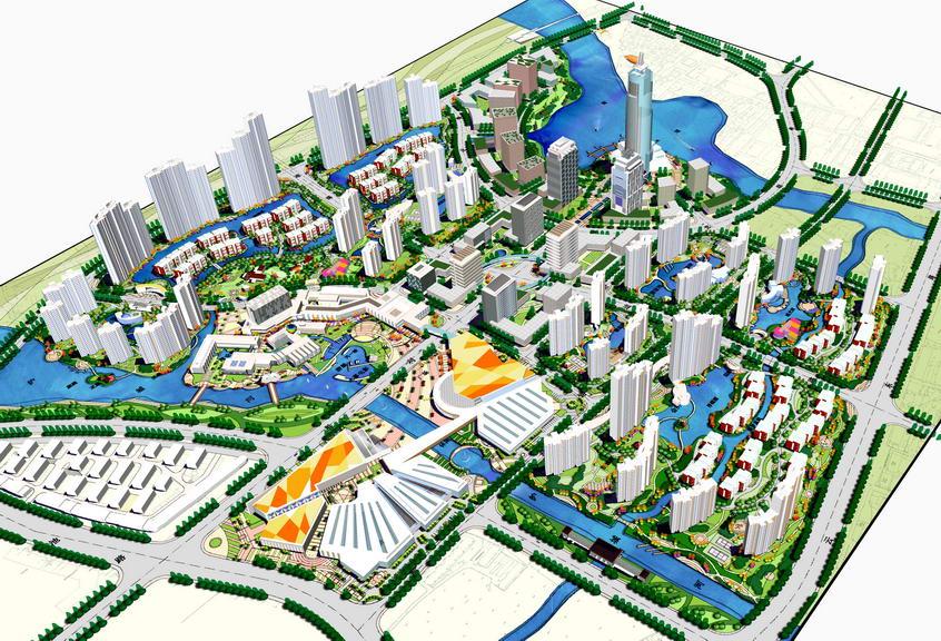 城市规划SU模型【ID:337115020】