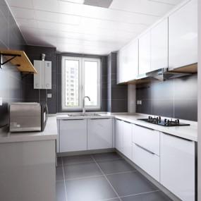 现代厨房3D模型【ID:528284064】