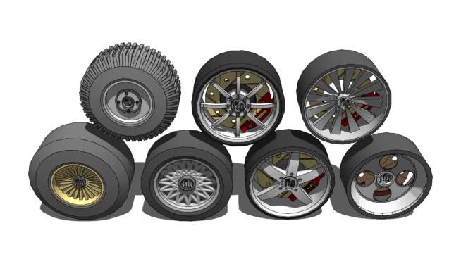 成堆的轮子SU模型【ID:439326929】