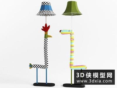 卡通落地燈國外3D模型【ID:929589009】