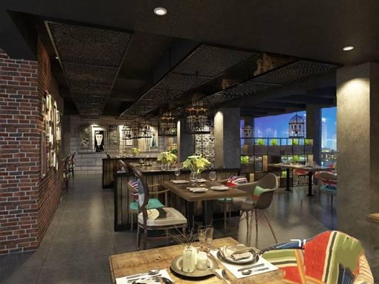 工业餐厅3D模型【ID:120607853】