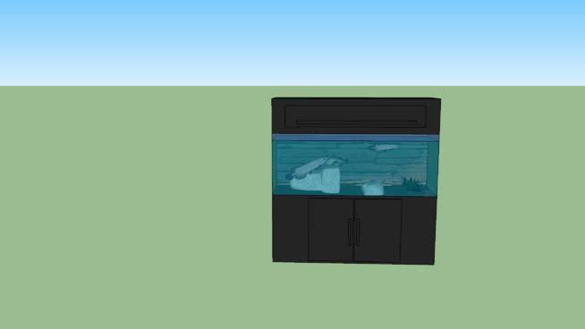 外来鱼缸SU模型【ID:439327913】