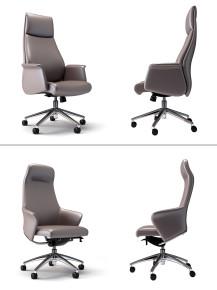 现代皮革办公椅班椅3D模型【ID:227778995】
