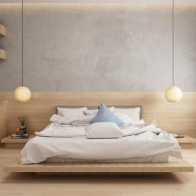 日式床具3D模型【ID:728094001】