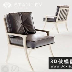 现代休闲椅国外3D模型【ID:729516886】