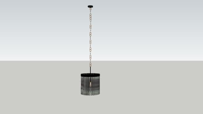 """里斯透明玻璃棱鏡圓形吊燈12""""-SU模型【ID:940517222】"""