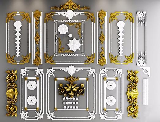 欧式雕花3D模型【ID:828137669】