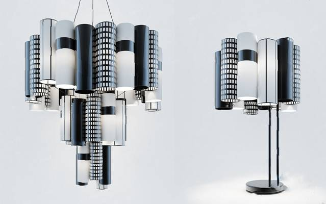 现代吊灯3D模型【ID:220009821】