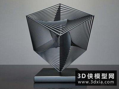 現代裝飾品國外3D模型【ID:929531821】