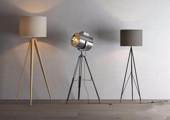 現代落地燈3D模型【ID:628050255】