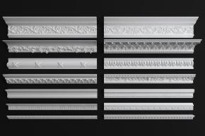 歐式石膏線條組合3D模型【ID:827813482】