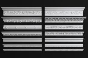欧式石膏线条组合3D模型【ID:827813482】