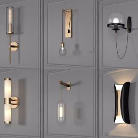 现代壁灯组合3D模型【ID:528015976】