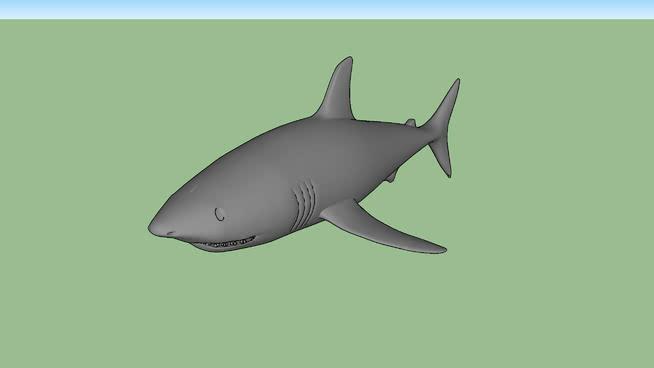 鯊魚SU模型【ID:740522661】