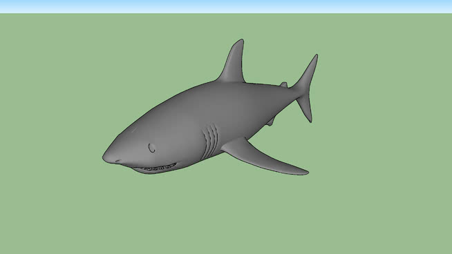 鲨鱼SU模型【ID:740522661】
