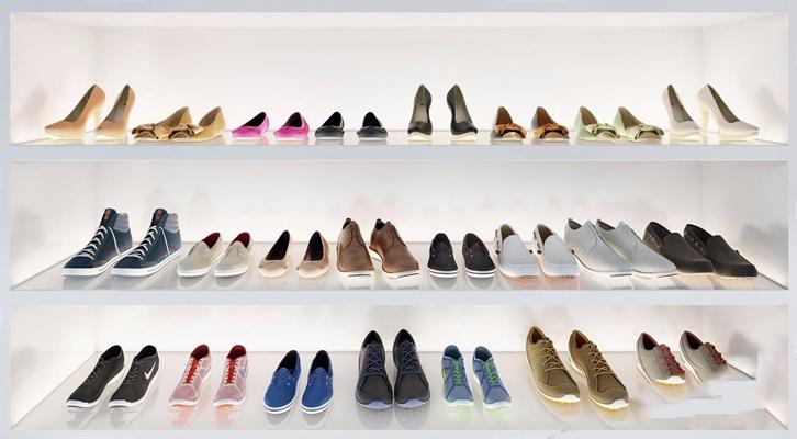 現代鞋子組合3D模型【ID:928335914】