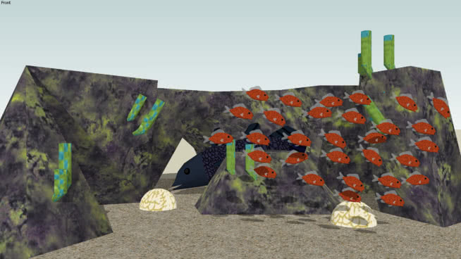珊瑚礁SU模型【ID:740523638】