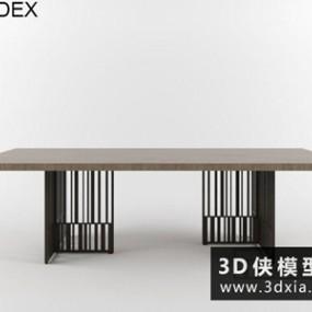 现代餐桌国外3D模型【ID:729636779】