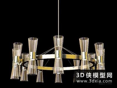 現代吊燈國外3D模型【ID:829373755】