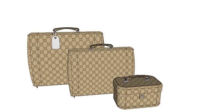行李包、化妆品袋SU模型【ID:740525255】
