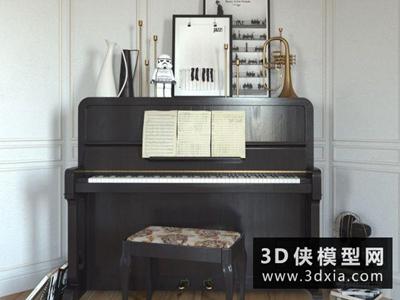 钢琴国外3D模型【ID:229478027】