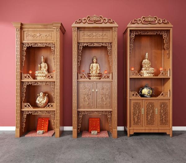 中式實木佛龕神龕3D模型【ID:947289989】