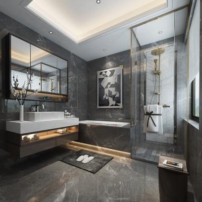 现代浴室卫生间3D模型【ID:128403683】