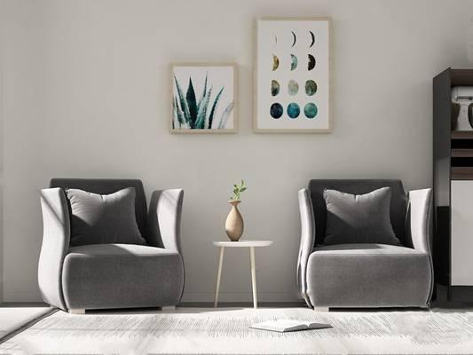 单人沙发3D模型【ID:920018698】
