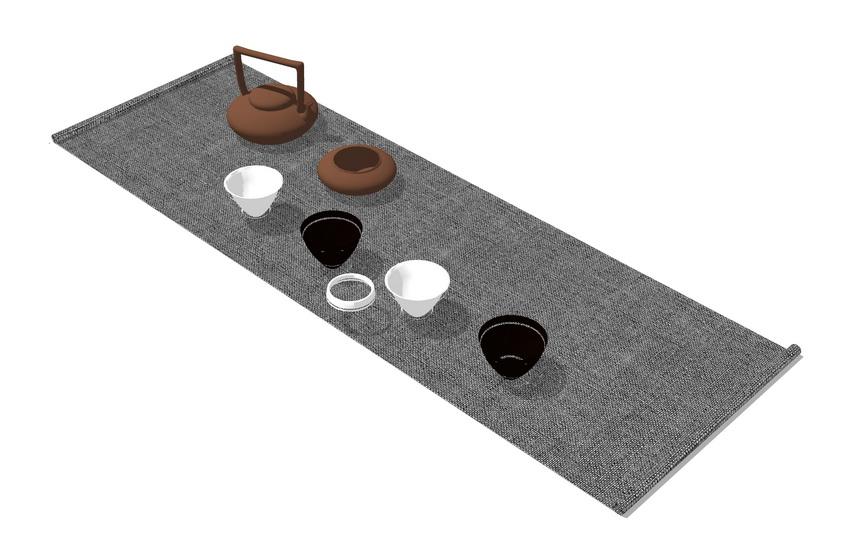 茶具SU模型【ID:937117469】